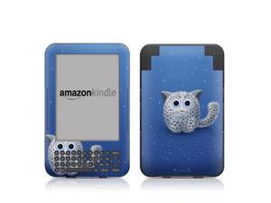 DecalGirl AK3-SNOWLEOPARD Kindle Keyboard Skin - Snow Leopard