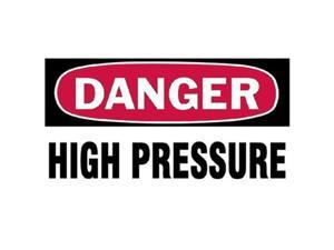 Brady 262-60309 3 Inchx5 Inch Danger High Pressure Gas Cylinder Label