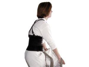 "Impact Deluxe Back Support, 7"" Back Panel, Single Closure w/Suspenders, Small, Black"
