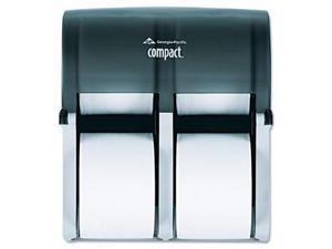 Georgia Pacific                          Compact Four Roll Coreless Tissue Dispenser, 11 3/4 x 6 9/10 x 13 1/4, Smoke