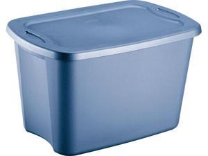 Sterilite 5 Gallon Lapis Blue Storage Totes  18191012 - Pack of 12