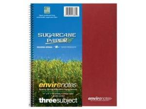 Roaring Spring Paper Products 13365 Earthtones Three Subject Sugarcane Notebook - 24 Per Case