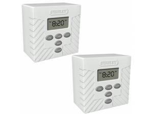 Stanley 170409 Stanley - 2 Pack - TimerMax Indoor Digital Lamp Timer, White