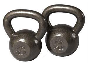 J Fit 20-6130-35 Cast Iron Kettlebell 30-35 lb Set