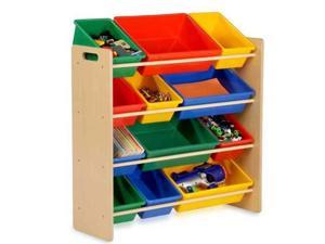 Honey-Can-Do SRT-01602 Kids Storage Organizer- 12 Bins- Natural