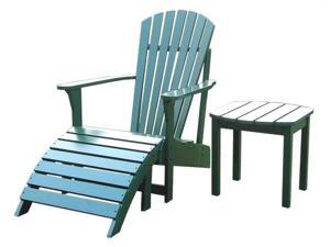International Concepts K-51901-CTS-0 3-Piece Adirondack Lawn Set