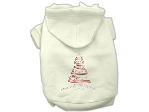 Mirage Pet Products 54-25-09 XXLCR Peace Tree Rhinestone Hoodies Cream XXL - 18