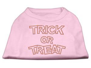 Mirage Pet Products 52-13-04 XLLPK Trick or Treat Rhinestone Shirts Light Pink XL - 16