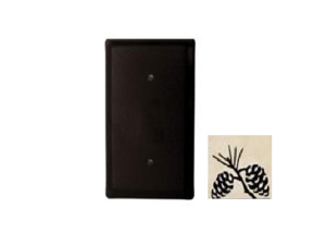 Village Wrought Iron EC-89 Pinecone Single Electrical Cover