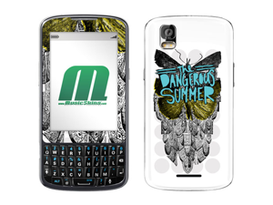 Music Skins MS-DSUM20232 Motorola Droid Pro The Dangerous Summer Butterfly Music Skins