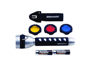 Brinkmann 809-1057-0 Rebel 2AA LED Flashlight  with  Accessories - Silver & Black
