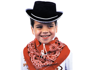 WMU 563865 Child Cowboy Hat with Whistle - Black