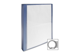 Acco-Wilson Jones Acco-Wilson Jones View Binder, with 2 Pockets,1 in. Capacity,11 in.x8-.5 in.,Blue