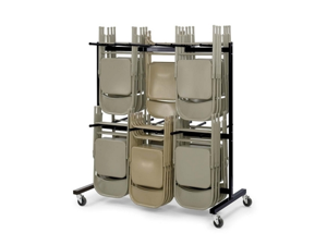 Safco Products Company Safco Products Company Chair Cart,Double Tier,Holds 84,64-.5 in.x33-.5 in.x70-.25 in.,BK