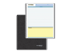 Mead Mead Business Notebook, Action Planner, 96 Page, 8-.5 in.x11 in.,Black