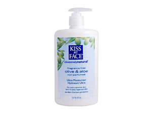 Kiss My Face 0339457 Ultra Moisturizer Olive and Aloe Fragrance Free - 16 fl oz