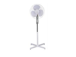 Optimus 16 in. Stand Fan Oscillating 3 Speed Whisper - White - F1660