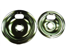 Range Kleen 10910A2X 6 Inch And 8 Inch Chrome Universal Pan Two Pack 109-A And 110-A