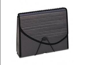 Pendaflex 01121 13-Pocket Expanding Spiral File- Letter- Foam Poly- Smoke