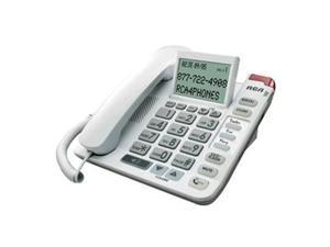 RCA 1124-1WTGA Legend Series Amplified Big Button Corded Phone with Caller ID