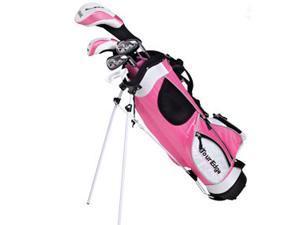 Tour Edge Golf JKSRGJ4158 JRH HT Max-J Jr Pink 4X1 5-8 Yrs With Bag - Right Hand