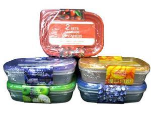 Bulk Buys Plastic Container Set - Case of 36
