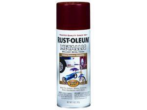 Rustoleum 7256-830 11 Oz Apple Red Stops Rust Metallic Spray Paint - Pack of 6