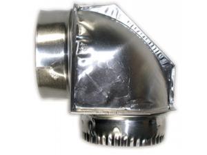 Builders Best Inc 010151 4 in. 90 degrees Aluminum Close Elbow