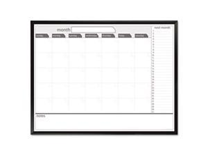 Tbd 17346UA1 Dry Erase Board  48 x 36  Whiteboard Calendar with Black-Painted Metal Frame