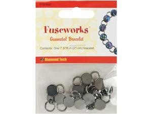 Fuseworks Jewelry Findings-Gunmetal Link Bracelet 7-3/16""