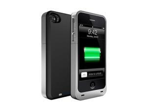 uNu unu-dx-2400-sil/blk DX Plus 2400mAh External Protective Battery Case for iPhone 4S and 4 - Matte Black/Silver