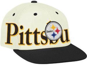 Reebok CG-NF73Z-WTE-PS Pittsburgh Steelers Team Name and Logo Snapback Hat