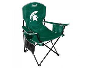 Coleman IF-COL-03113038111 Michigan State Spartans State Cooler Quad Tailgate Chair