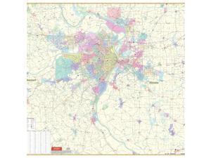 Universal Map 762538562 St Louis MO Vicinity Wall Map Railed