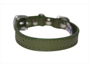 Angel Pet Supplies 40984 Alpine Plain Dog Collar in Olive Green