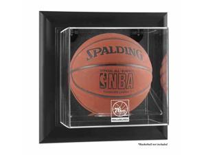 Mounted Memories MM-DISPUKSIXR Philadelphia 76ers Black Framed Wall Mounted Basketball Case