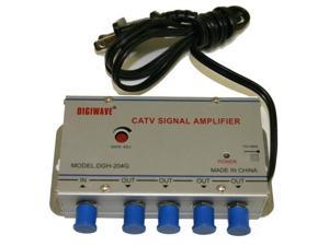 Homevision Technology DGS204G 45-862MHz CATV 1 in 4 out Signal Amplifier