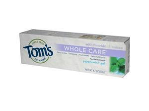 Toms Of Maine AY52786 Toms Of Maine Peppermint Whole Care Gel Toothpaste -6x4.7 Oz