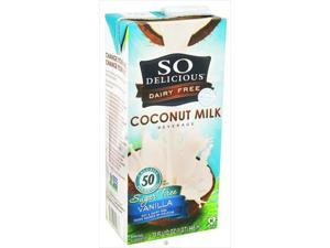 So Delicious Vanilla Sugar Free Coconut Milk 32 Oz, Pack of 12