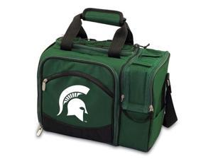Picnic Time PT-508-23-123-354-0 Michigan State Spartans Malibu Picnic Cooler in Green