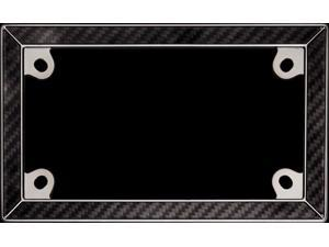 Cruiser Accessories 77198 Motorcycle License Plate Frame Carbon Fiber II, Carbon Fiber With Black Chrome