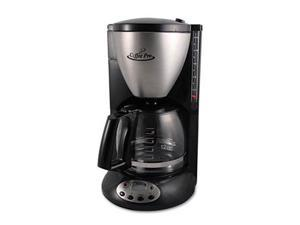 Coffee Pro CP12BP Home-Office Euro Style Coffee Maker, Black-Stainless Steel