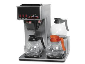 Coffee Pro CP3LB Three-Burner Low Profile Institutional Coffee Maker, Stainless Steel