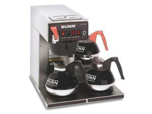 BUNN 12950.0252 12 Cup Coffee Brewer with Lower Warmers Thermo Fresh 35 Plastic Funnel