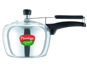 Prestige PRA5P Apple Aluminum Polished Finish Pressure Cooker, 5 Litres
