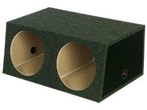 "Q Power Small Dual 12"" Unloaded Box SMBASS12"