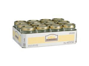 Hearthmark 1 Pint Wide Mouth Canning Jars  00518