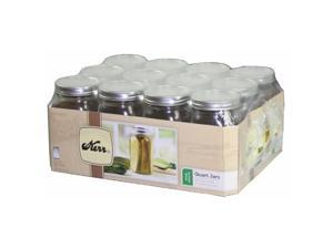 Hearthmark 1 Quart Wide Mouth Canning Jars  00519