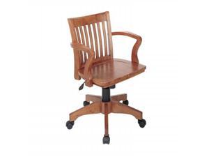 Office Star 105FW Deluxe Wood Bankers Chair with Wood Seat in Fruit Wood Finish- Fruitwood Finish
