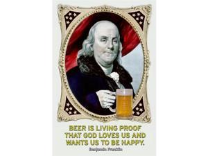 Beer is Living Proof 12x18 Giclee On Canvas